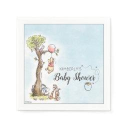 Pooh & Friends Watercolor | Baby Shower Napkin