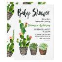 Potted Cactus Baby Shower Invitation