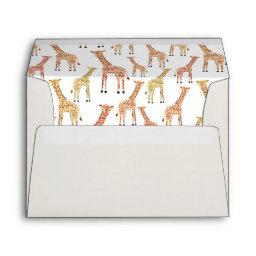 Pre-addressed Giraffe Envelopes