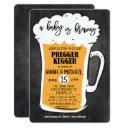Pregger Kegger Beer Baby Shower Invitation