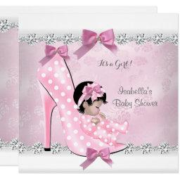 Pretty Baby Shower Girl Pink Diamond High Heel D