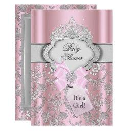 Royal princess baby shower invitations babyshowerinvitations4u pretty bow tiara princess baby shower filmwisefo Images
