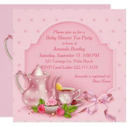 Pretty Pink Baby Shower Tea Party