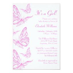 Pretty Pink Butterfly Baby Shower