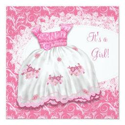 Pretty Pink Dress Baby Shower