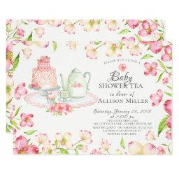 Pretty Pink Floral Baby Tea Party