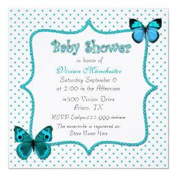 Pretty Polka Dots and Butterflies Baby Shower