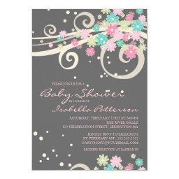 Pretty Posy Floral Swirl Baby Shower