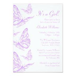 Pretty Purple Butterfly Baby Shower