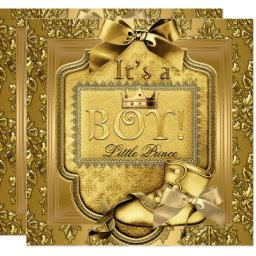 Prince Baby Shower Baby Boy Elite Damask Gold