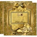 Prince Baby Shower Baby Boy Elite Damask Gold Invitation