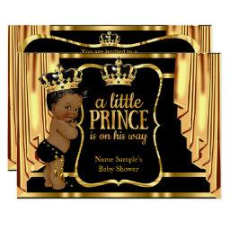 Prince Baby Shower Black Gold Drapes Ethnic