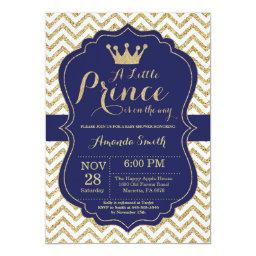 Prince Baby Shower  Navy and Gold