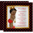 Prince Baby Shower Red Gold Black Boy Ethnic