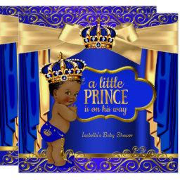 Prince Baby Shower Royal Blue Gold Drapes Ethnic