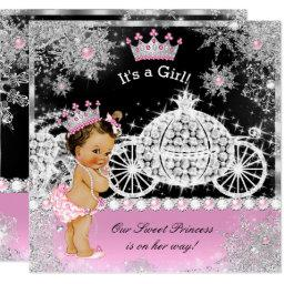 Princess  Carriage Pink Black Brunette