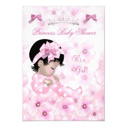 Princess Baby Shower Girl Pink Floral Asian