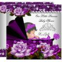 Princess Baby Shower Girl Plum Rose Invitation