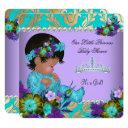 Princess Baby Shower Girl Teal Blue Purple Gold Invitation