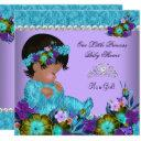 Princess Baby Shower Girl Teal Blue Purple