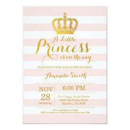 Royal princess baby shower invitations babyshowerinvitations4u princess baby shower pink and gold filmwisefo