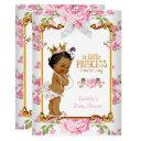Princess Baby Shower Pink White Floral Ethnic 2 Invitation