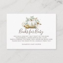 Pumpkin | Books For Baby Bring A Book Baby Shower Enclosure Card