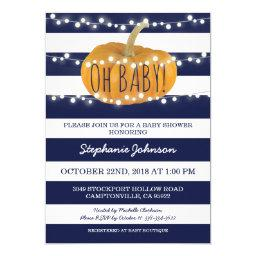 Pumpkin Fall Chic Baby Shower