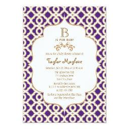 Purple and Gold Moroccan Baby Girl Baby Shower