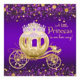 Purple and Gold Princess Carriage Baby Shower