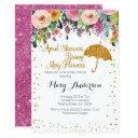 Purple April Showers Baby Shower Invitation