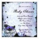 Purple Black Carriage Baby Shower Invitations