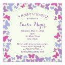 Purple Butterflies Baby Shower