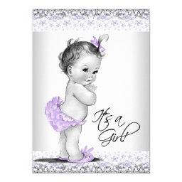 Purple Lavender And Gray Baby Girl Shower