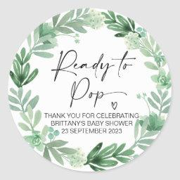 Ready To Pop Cute Baby Shower Favor Classic Round Sticker