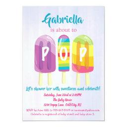 Ready To Pop Ice Pops Baby Shower Invitation
