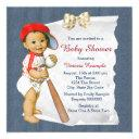Red And Blue Baby Shower Invitation
