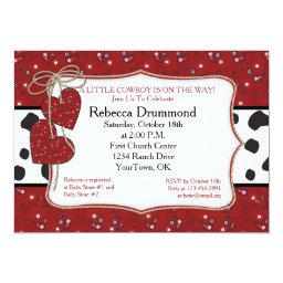 Red Bandana Cowboy Baby Shower