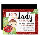 Red Black Ladybug Baby Shower Invitation