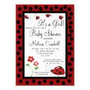Red Black Ladybug Baby Shower  Template