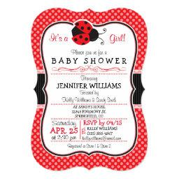 Red & Black Ladybug; Cute Baby Shower