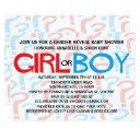 Red & Blue Gender Reveal Baby Shower Party Invites