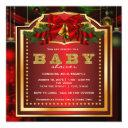 Red Christmas Baby Shower Invitation