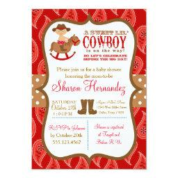 Red Cowboy Baby Boy Shower