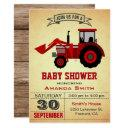 Red Farm Tractor Baby Shower