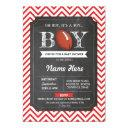 Red Football Boy Baby Shower Rugby Red Invite