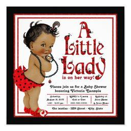 Red Ladybug African American Girl Baby Shower