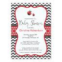 Red Ladybug Baby Shower Invitation