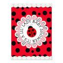 Red Ladybug Girl's Baby Shower Invitation