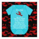 Red Lobster Crawfish Baby Boy Shower Invita Invitations